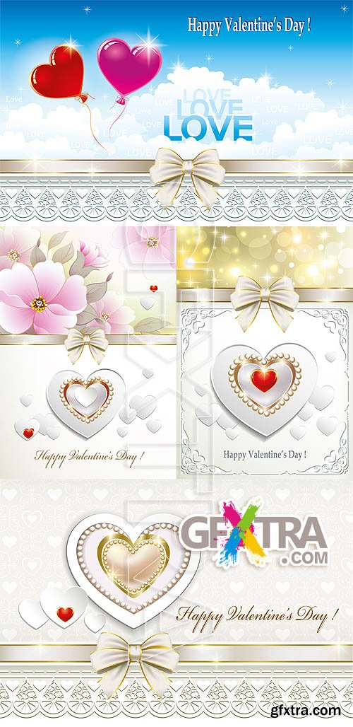 Stock vector - Valentine cards 00017