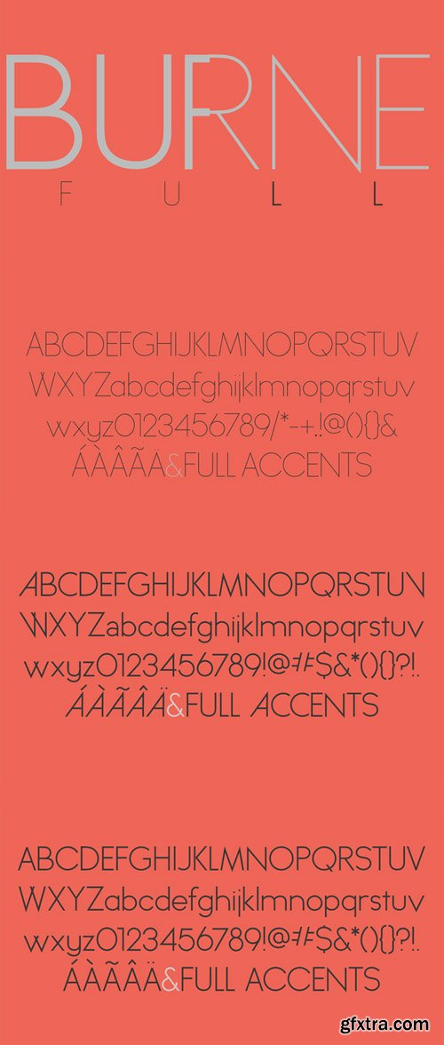 All Burnes Weights Font
