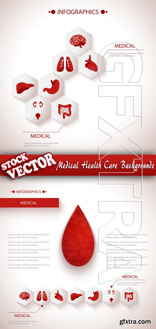 Stock Vector - Medical Health Care Backgrounds