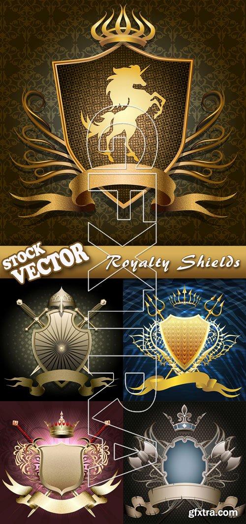 Stock Vector - Royalty Shields