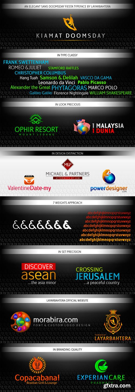 Kiamat Doomsday Font Family - 7 Fonts for $270!