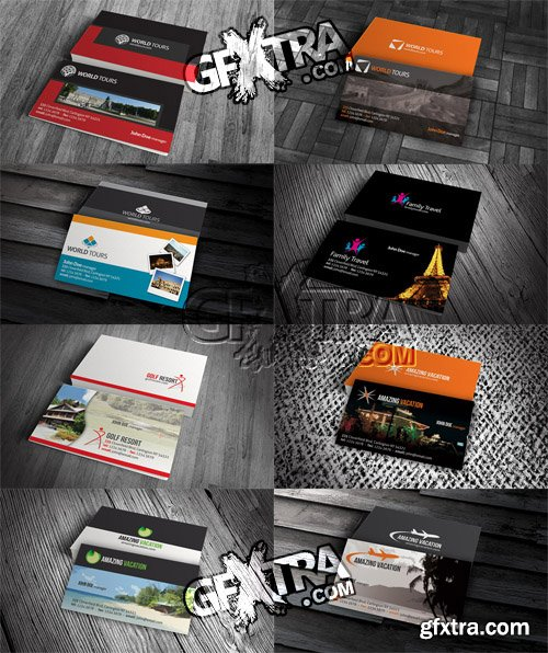 8 Travel Business Card Templates