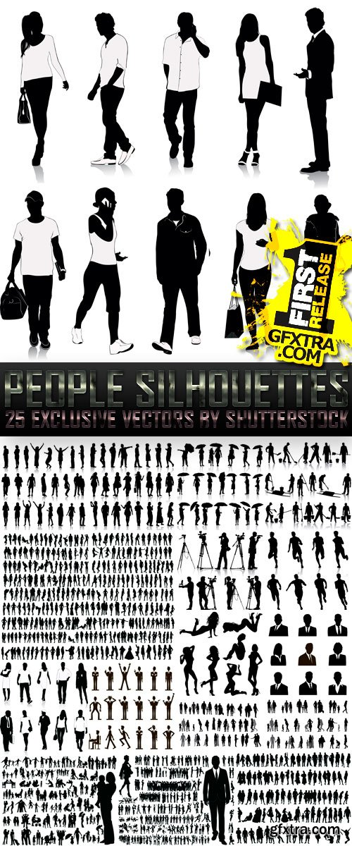 Amazing SS - People Silhouettes (vol.2), 25xEPS