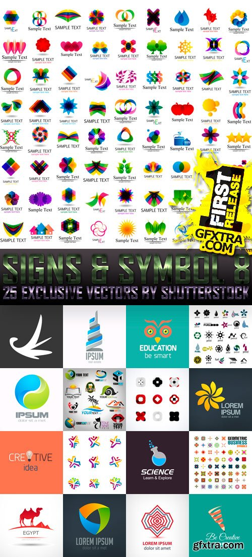 Amazing SS - Signs & Symbol 8, 25xEPS