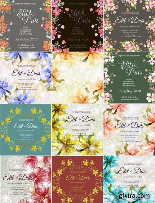 Wedding invitation card, 25xEps