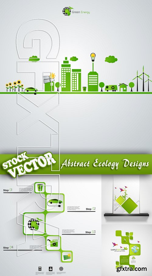Stock Vector - Abstract Ecology Designs