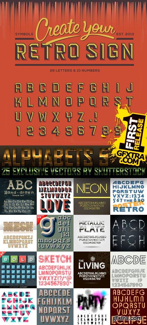 Amazing SS - Alphabets 5, 25xEPS