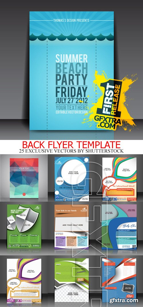 Amazing SS - Back Flyer Template, 25xEPS