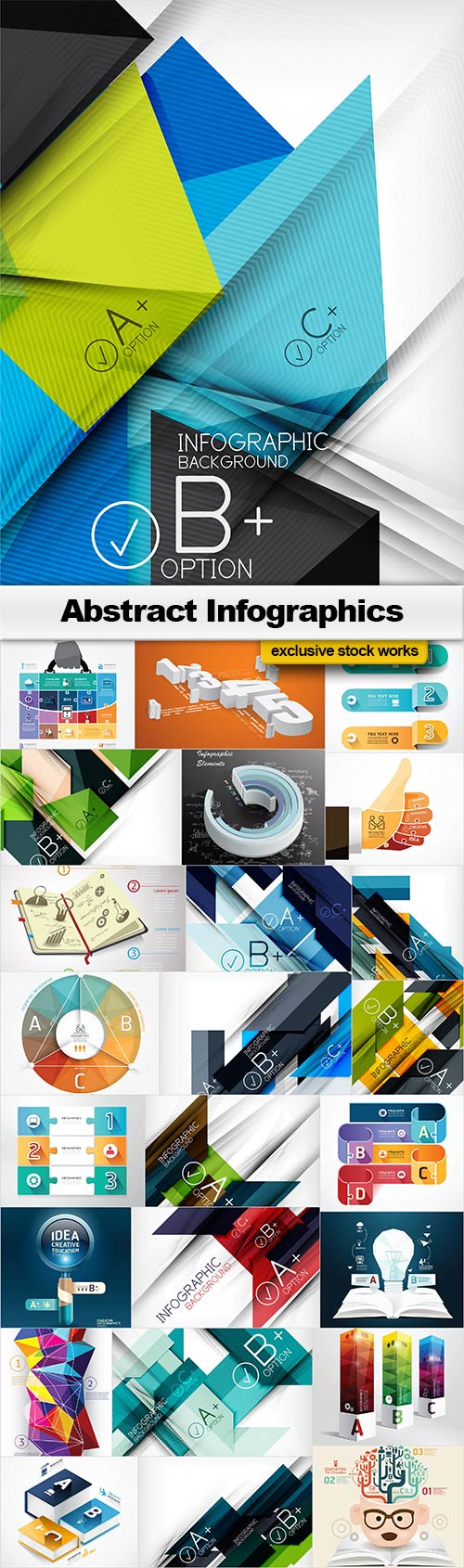 Abstract Infographics - 25x JPEGs