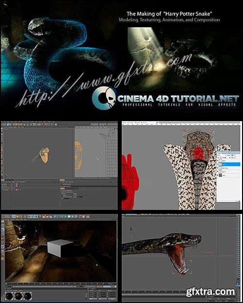 """Cinema4Dtutorial - The Making of """"Harry Potter Snake"""" in Cinema 4D [Reuploaded]"""