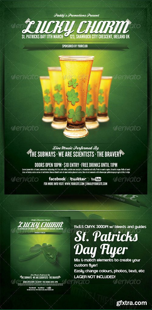 GraphicRiver - St. Patricks Day Party Flyer Template