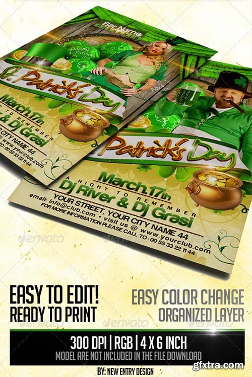 GraphicRiver - St. Patrick's Day Flyer Template 3902504