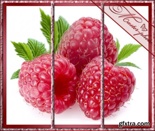 Fruit polyptych to the kitchen in the PSD - Yagoda-Malina