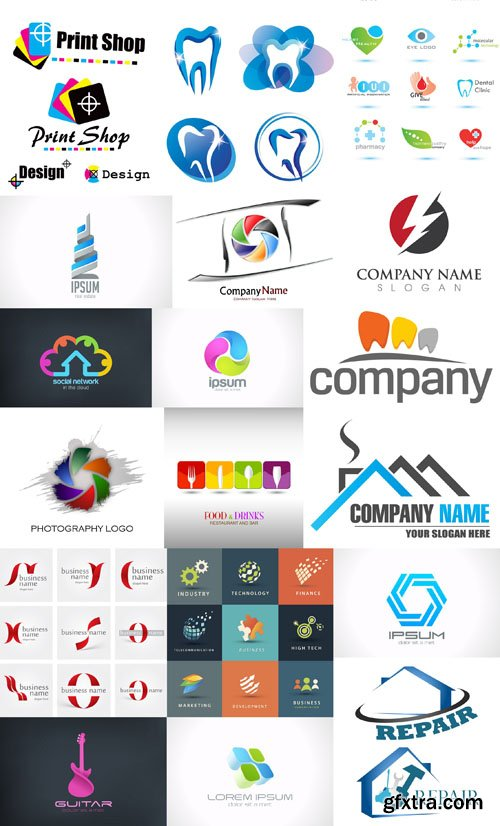 Collection of Logos vol.22, 25xEPS, AI