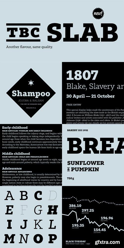 Tabac Slab Font Family - 16 Fonts for $400