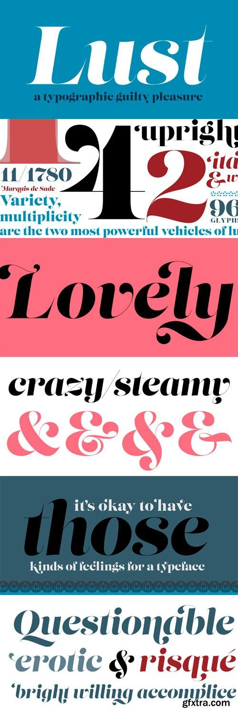 Lust Font Family - 6 Fonts for $200