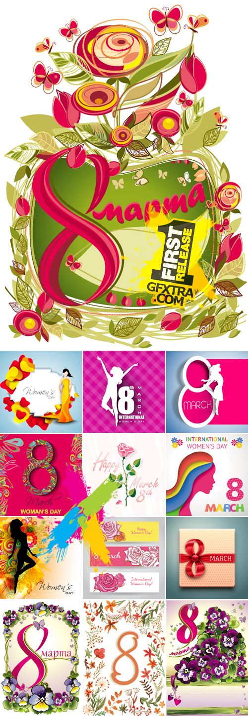 8 March Woman's Day Vector Collection