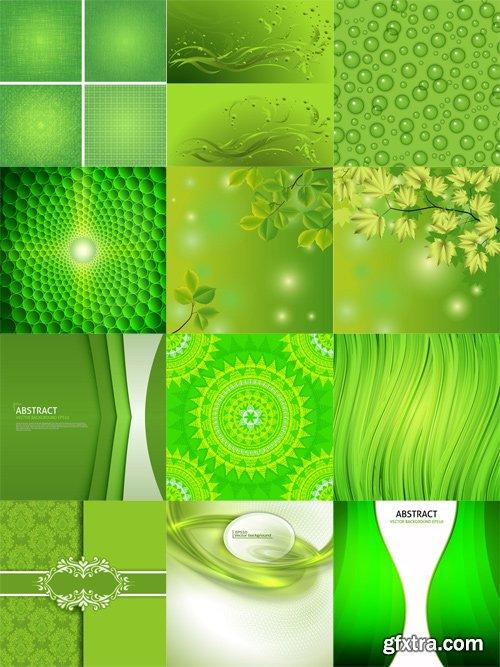 Shutterstock - Green background, 25xEps