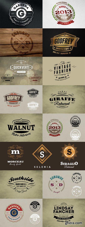 Branding Bundle - Logo Mock ups and Retro Badges Signs