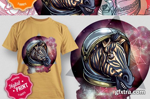 10 Super Premium Digital Print T-Shirt Designs with an Extended License