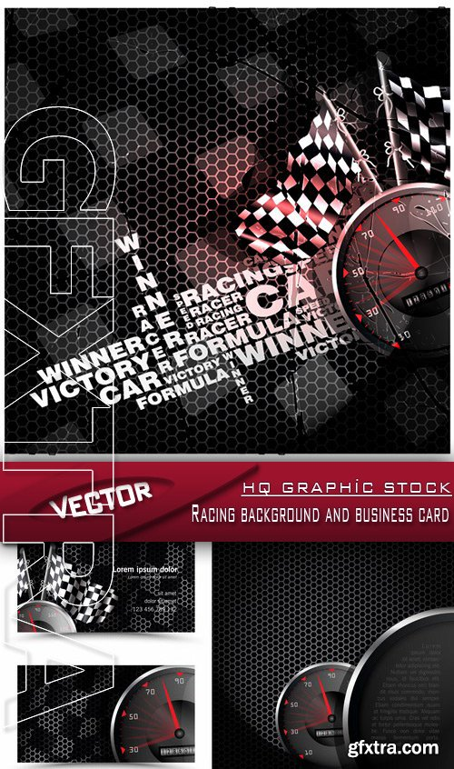 Stock vector racing background and business card vector stock vector racing background and business card reheart Images