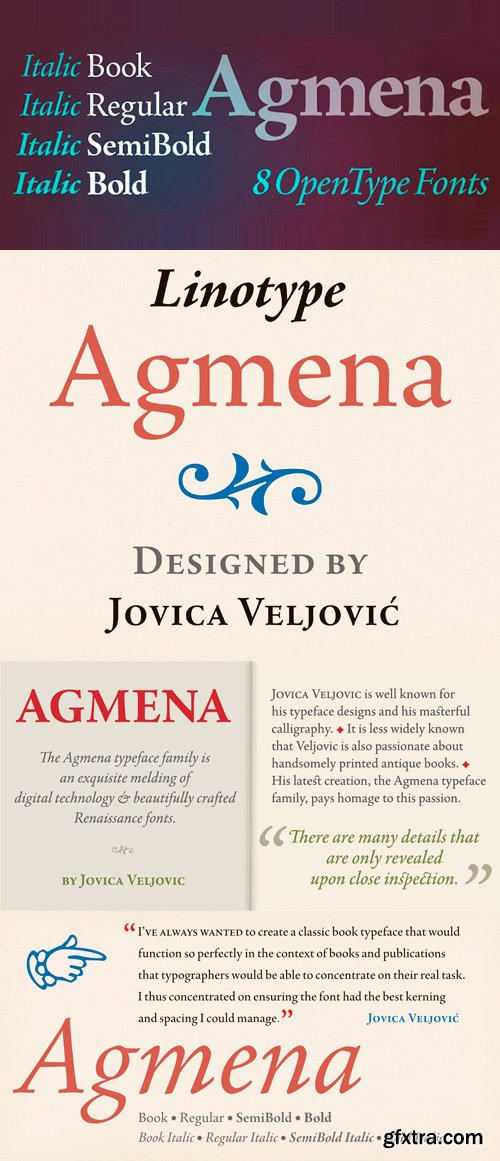 Agmena Pro Font Family - 8 Fonts for $468
