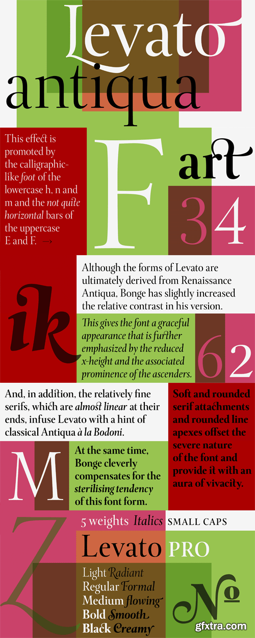 Levato Pro Font Family - 10 Fonts for $585