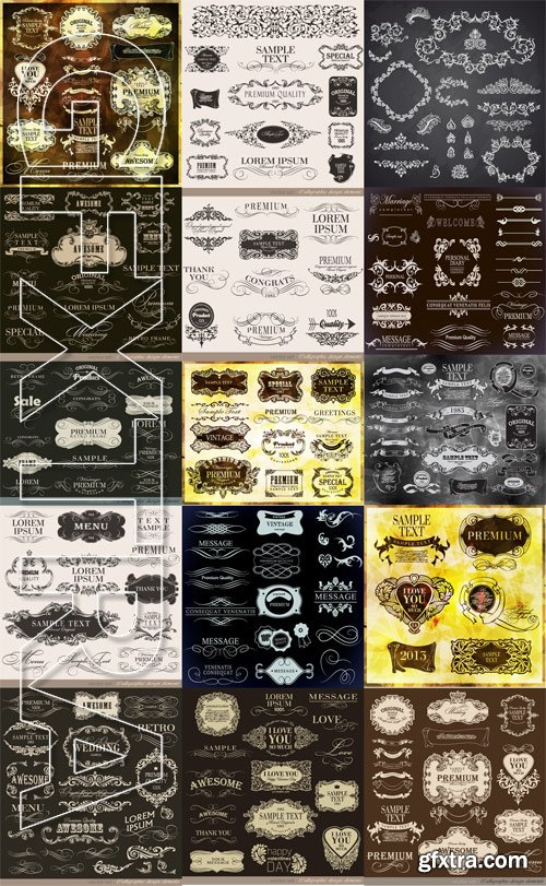 Shutterstock - Calligraphic Design Elements 2, 25xEps