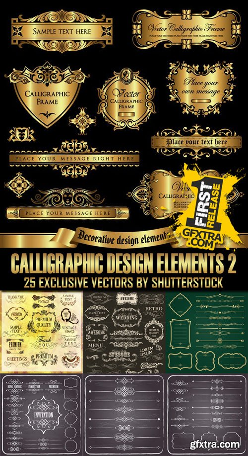 Shutterstock - Calligraphic Design Elements 2, 25xEps