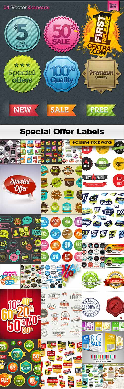 Special Offer Labels - 25x EPS