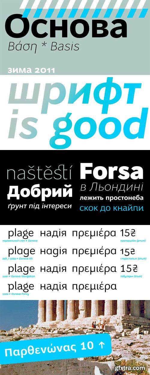 Osnova Pro Font Family - 12 Fonts for $330