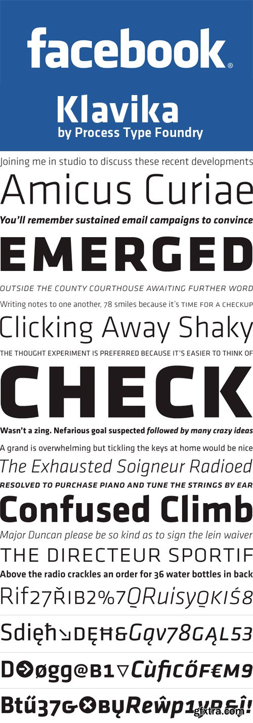 Klavika Font Family (by Process Type Foundry) - 8 Fonts for $300