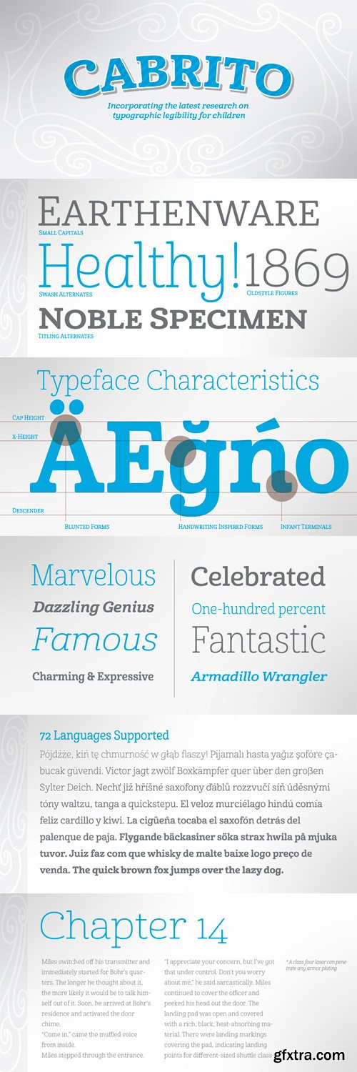 Cabrito Font Family - 48 Fonts for $124