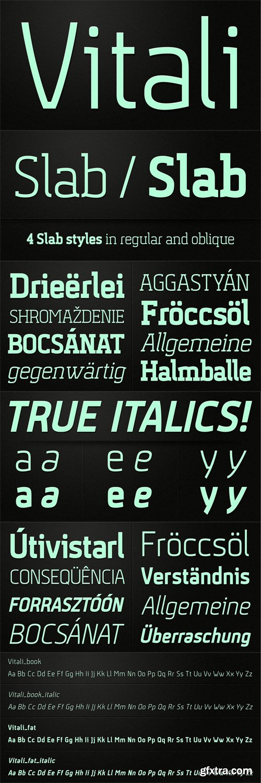 Vitali Font Family - 8 Fonts for $50