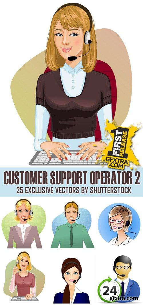 Shutterstock - Customer support operator 2, 25xEps