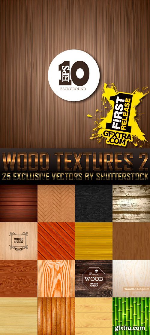 Amazing SS - Wood Textures 2, 25xEPS