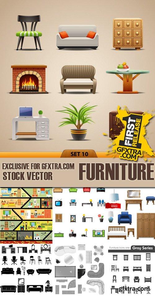 Shutterstock - Furniture, 25xEps