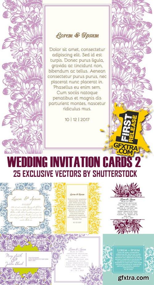 Shutterstock - Wedding invitation cards 2, 25xEps