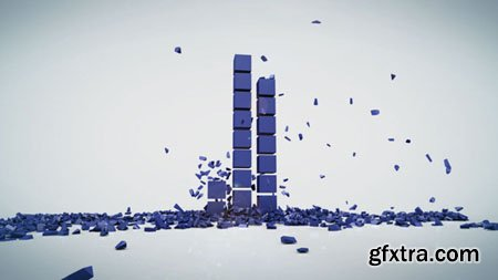 Videohive - Rising Cubes Logo Reveal 7161375