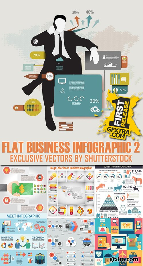 Shutterstock - Flat Business Infographic 2, 28xEps