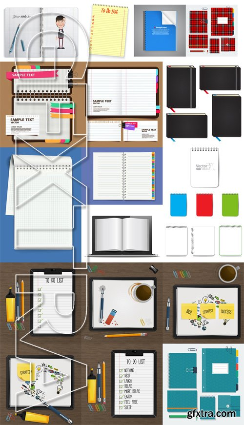 Shutterstock - Notebook and Notepad, 25xEps