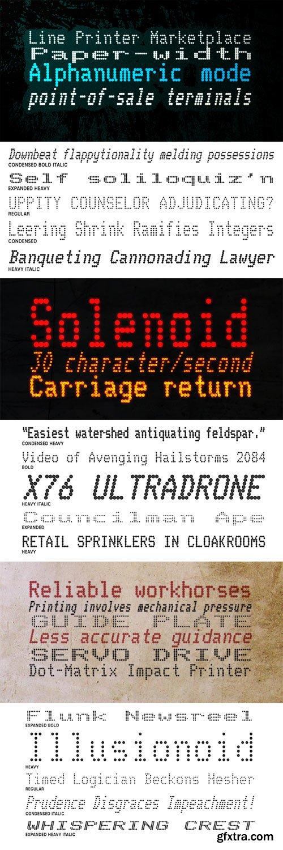 Telidon Font Family - 18 Fonts for $405