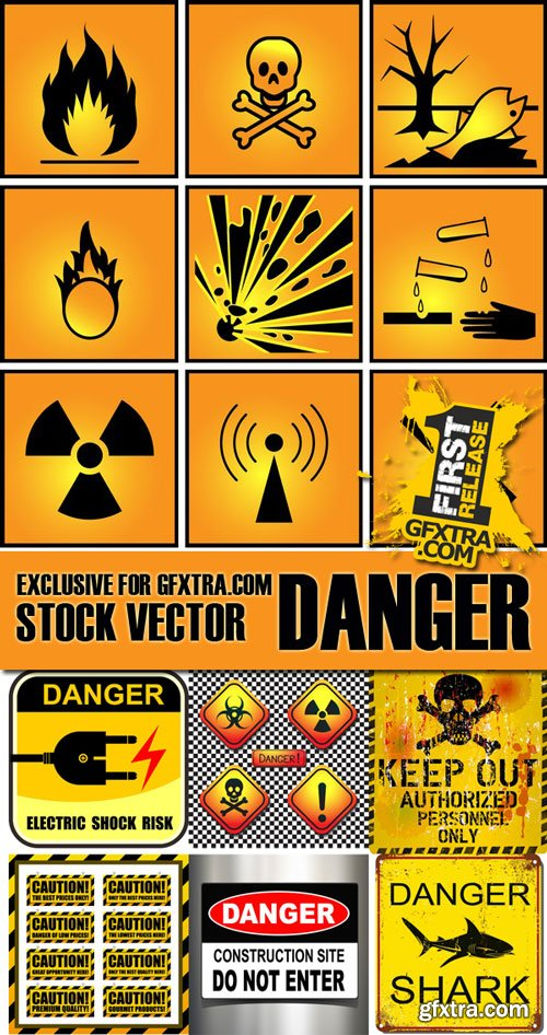Stock Vectors - Danger and Uder construction