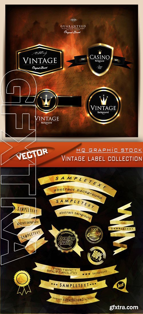 Stock Vector - Vintage label collection