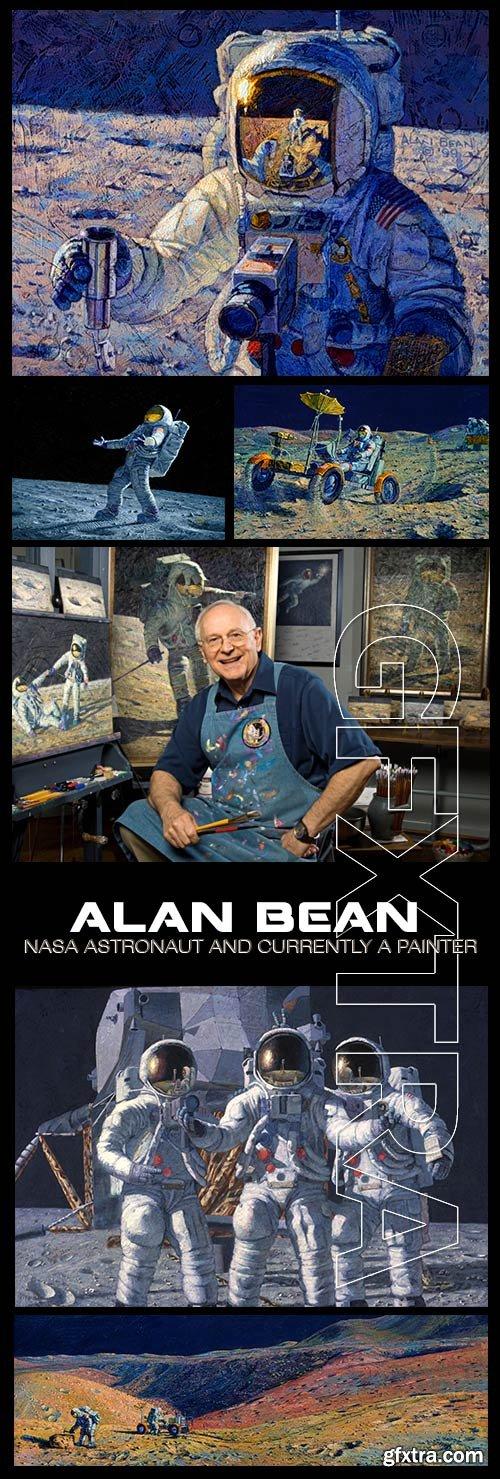 Alan Bean, Astronaut & Painter 197xJPG