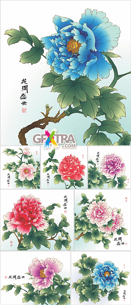 Painting of Chinese Peony
