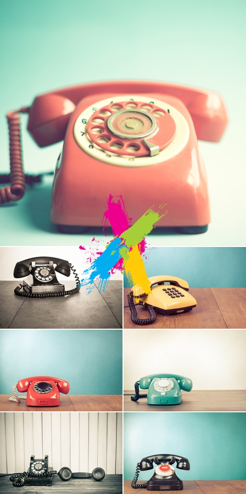 Stock Photo - Vintage Retro Phone