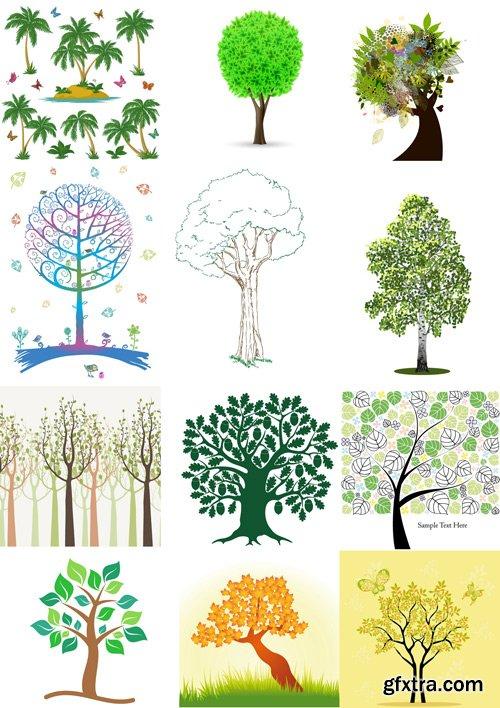 Shutterstock - Tree, 25xEps