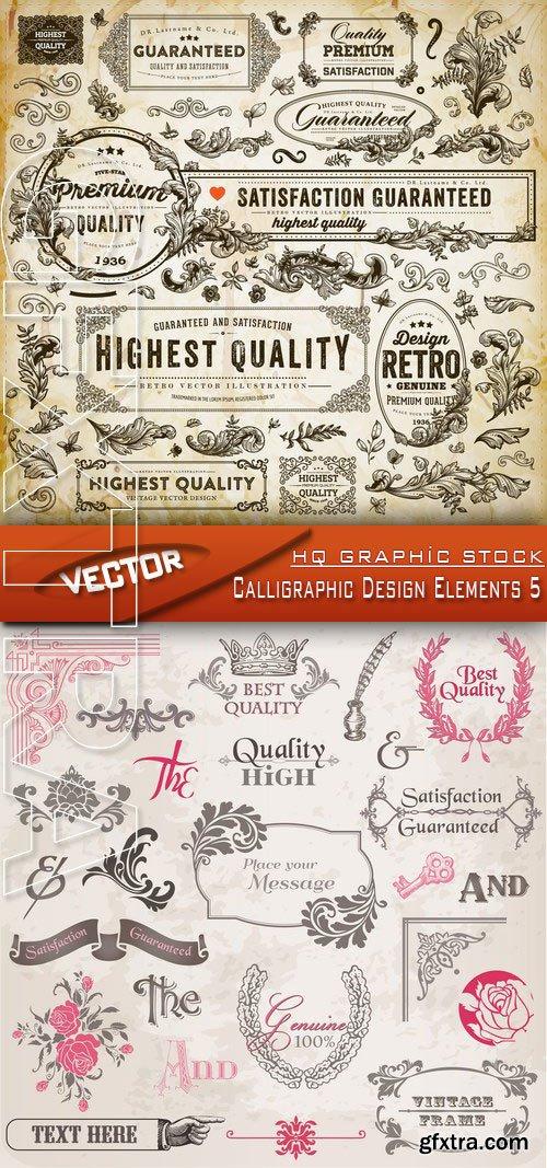 Stock Vector - Calligraphic Design Elements 5