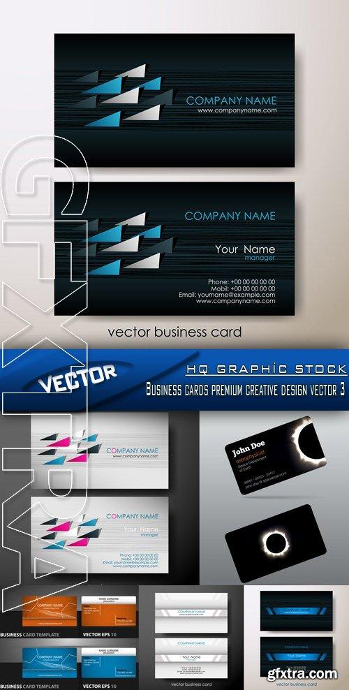 Stock Vector - Business cards premium creative design vector 3